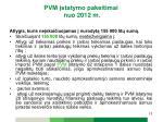 pvm statymo pakeitimai nuo 2012 m2