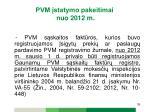 pvm statymo pakeitimai nuo 2012 m24