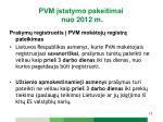 pvm statymo pakeitimai nuo 2012 m3