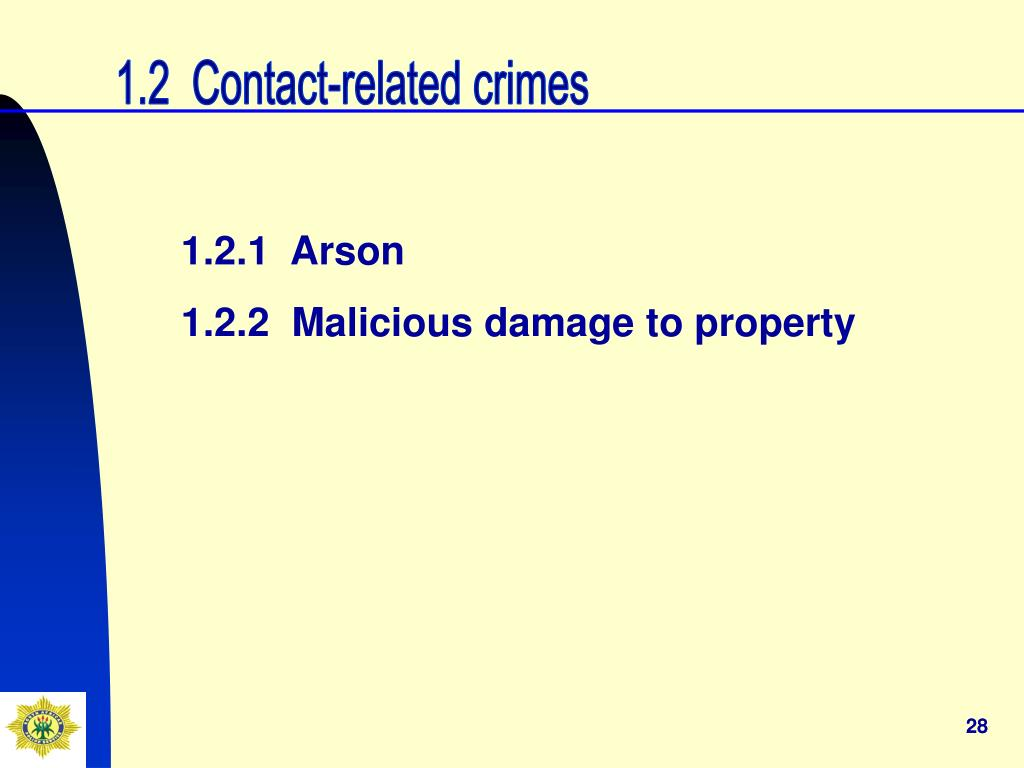 1.2  Contact-related crimes