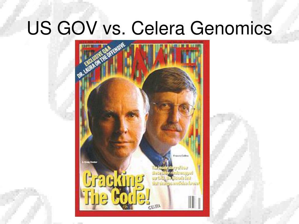 US GOV vs. Celera Genomics