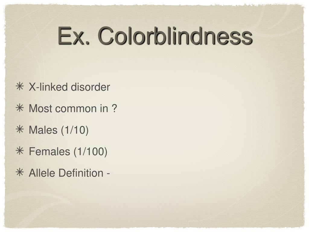 Ex. Colorblindness