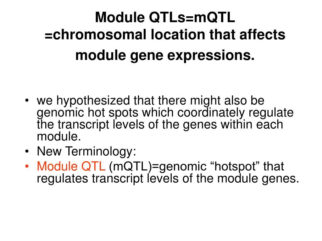 Module QTLs=mQTL