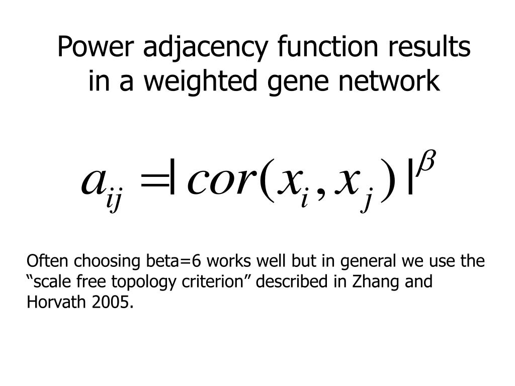Power adjacency function results