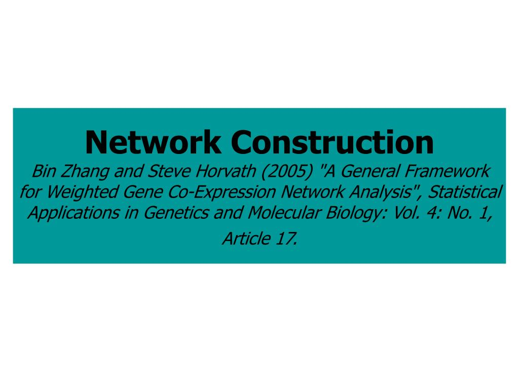 Network Construction