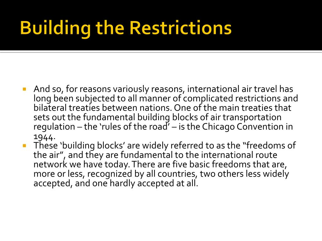 Building the Restrictions