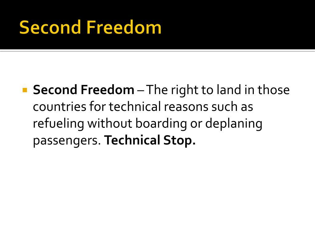 Second Freedom