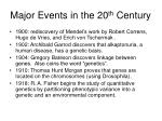 major events in the 20 th century