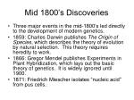 mid 1800 s discoveries
