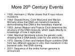more 20 th century events