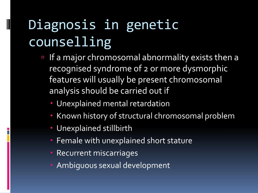 Diagnosis in genetic counselling