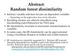 abstract random forest dissimilarity