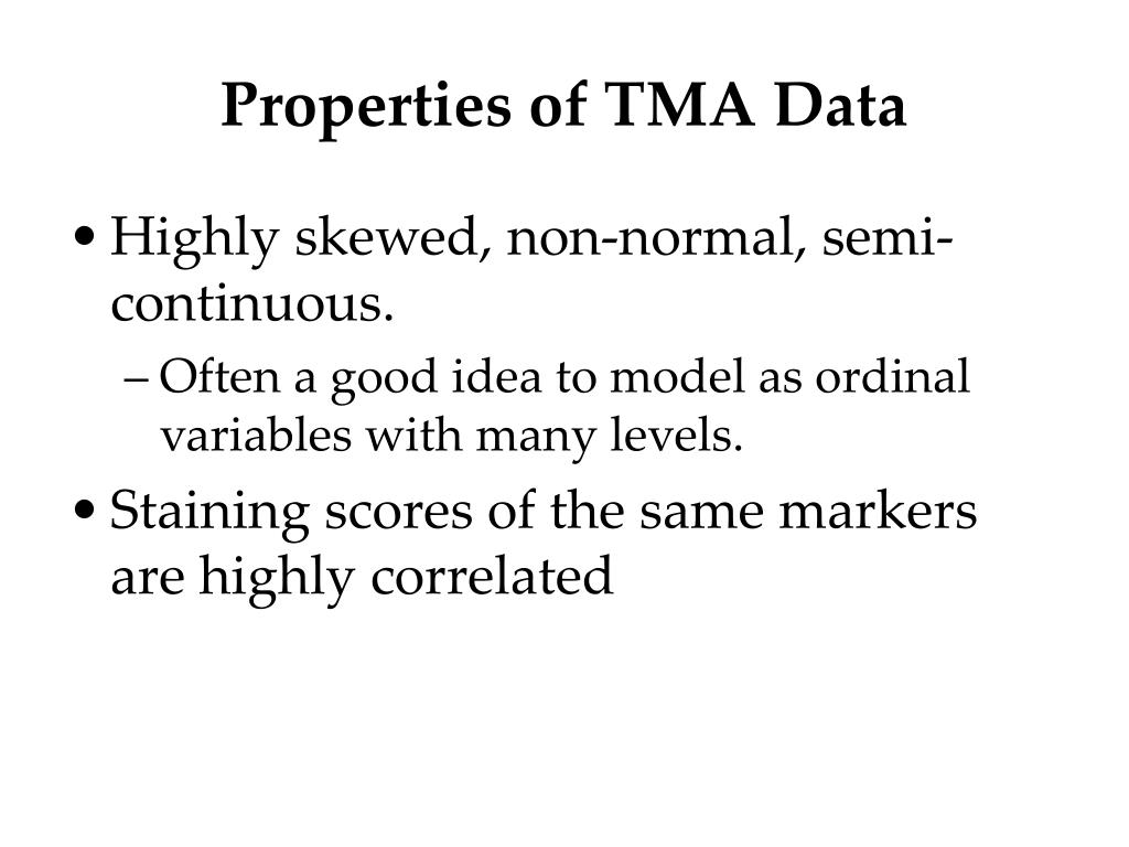 Properties of TMA Data