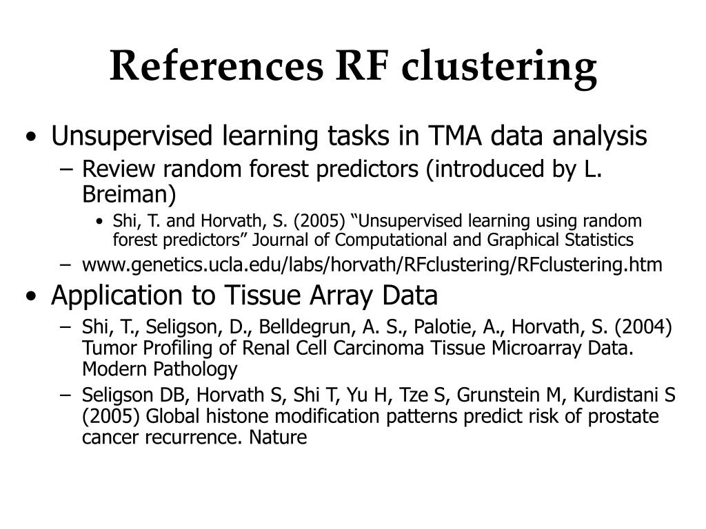 References RF clustering