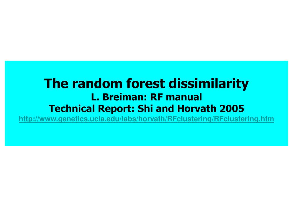 The random forest dissimilarity