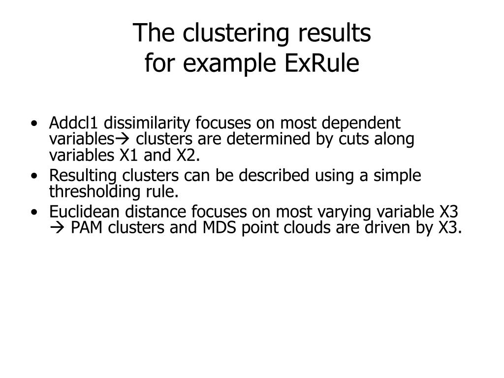 The clustering results