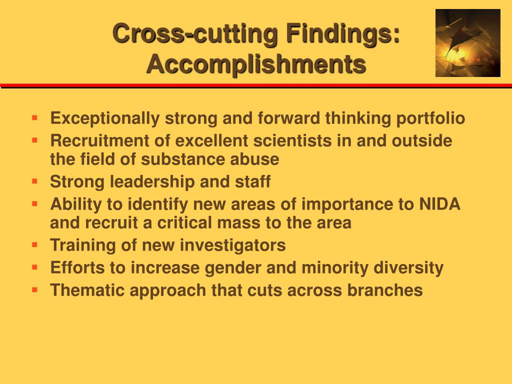Cross-cutting Findings: