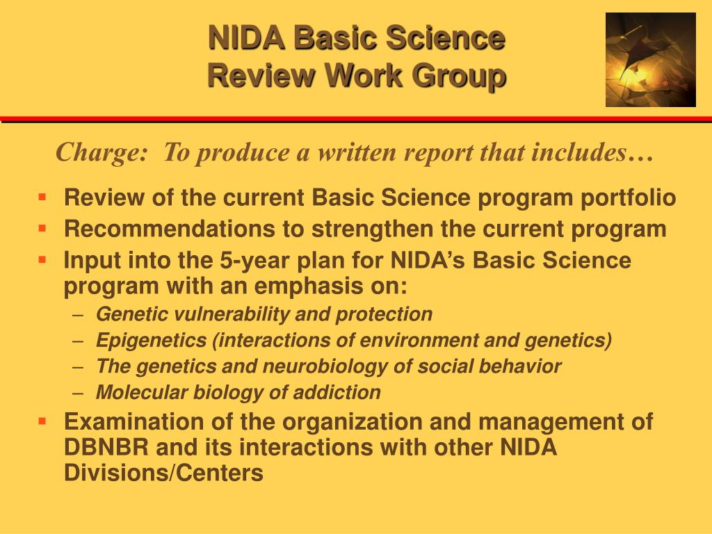 NIDA Basic Science