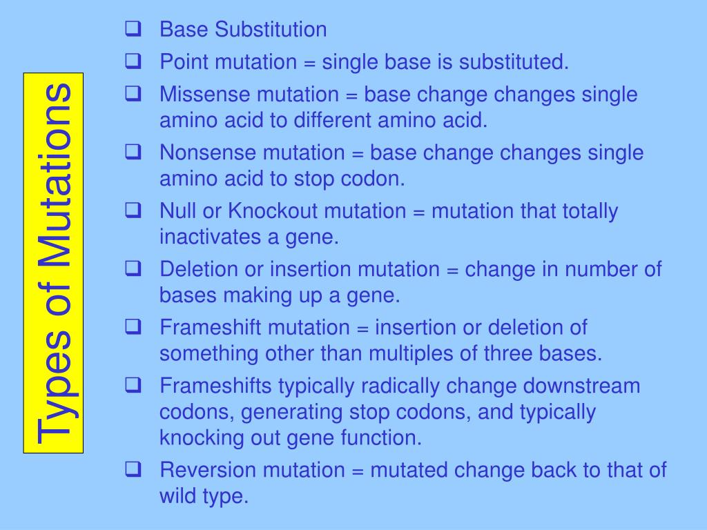 Base Substitution