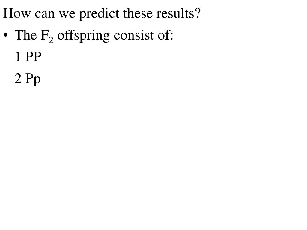How can we predict these results?