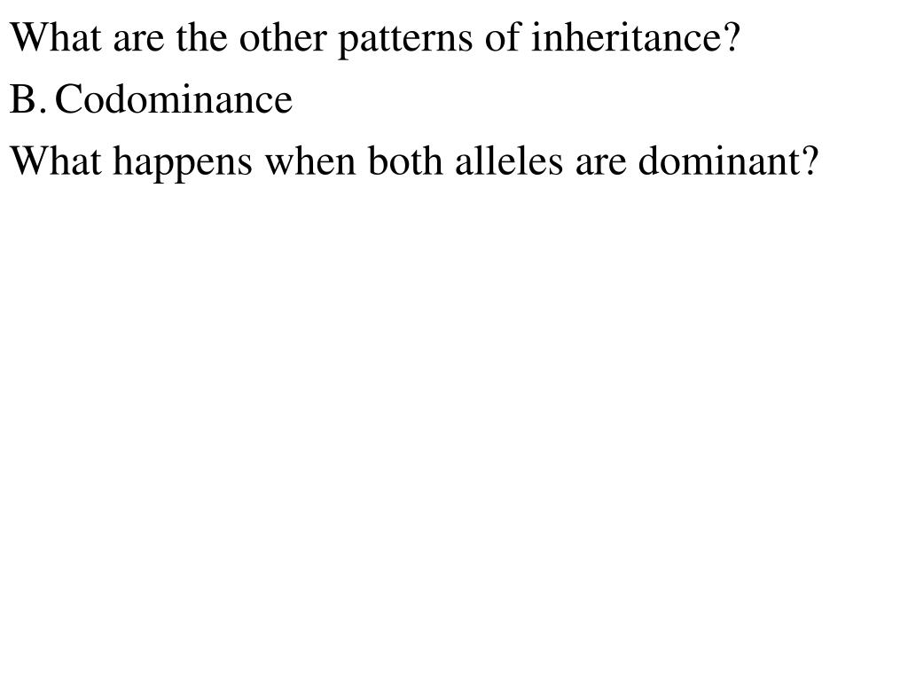 What are the other patterns of inheritance?