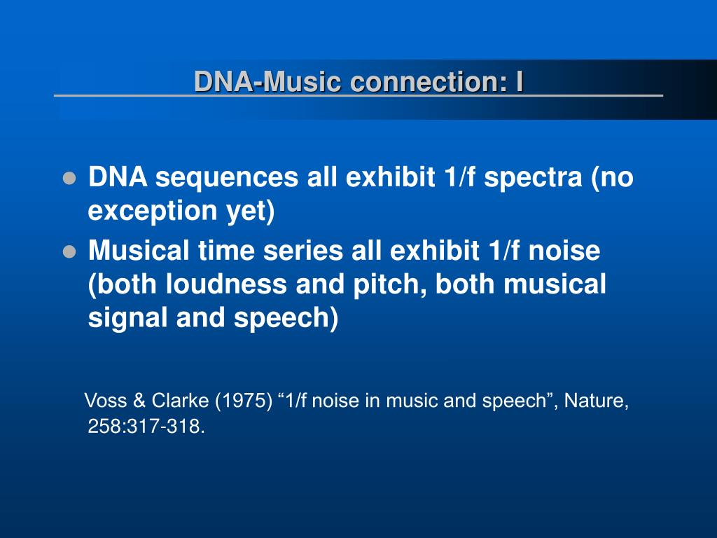 DNA-Music connection: I