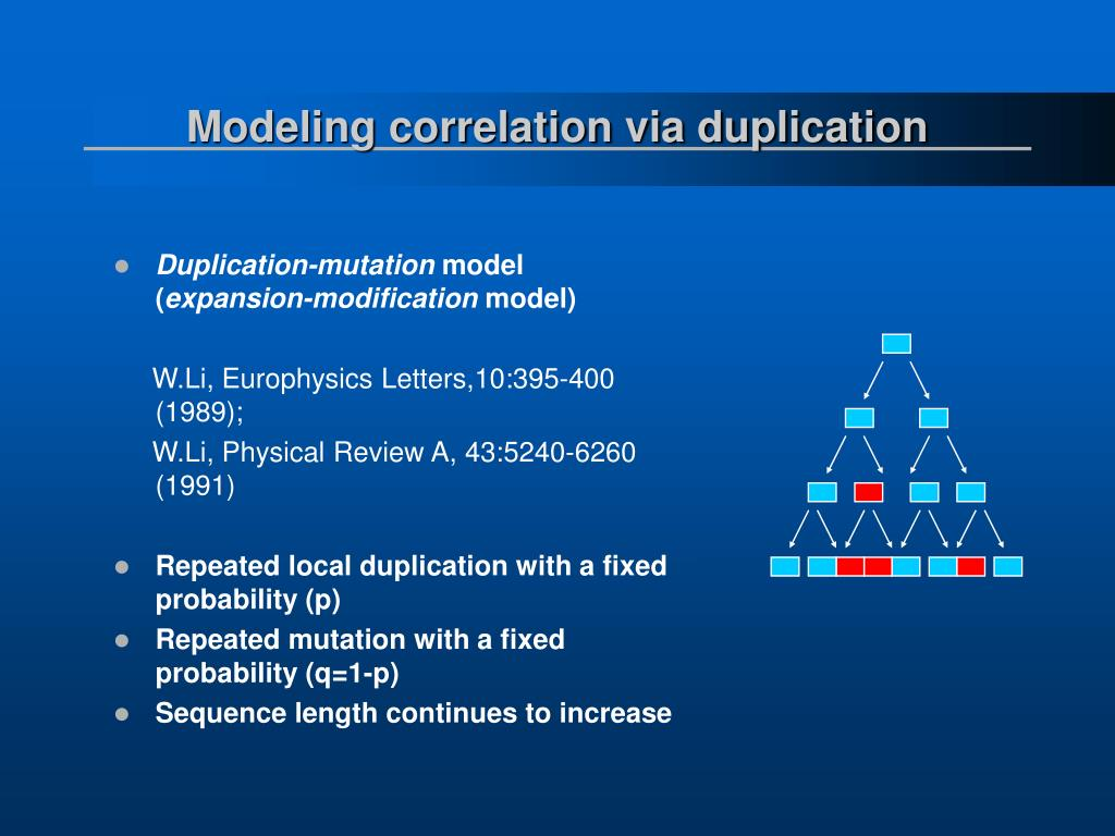 Modeling correlation via duplication