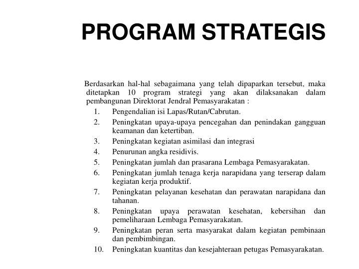 PROGRAM STRATEGIS