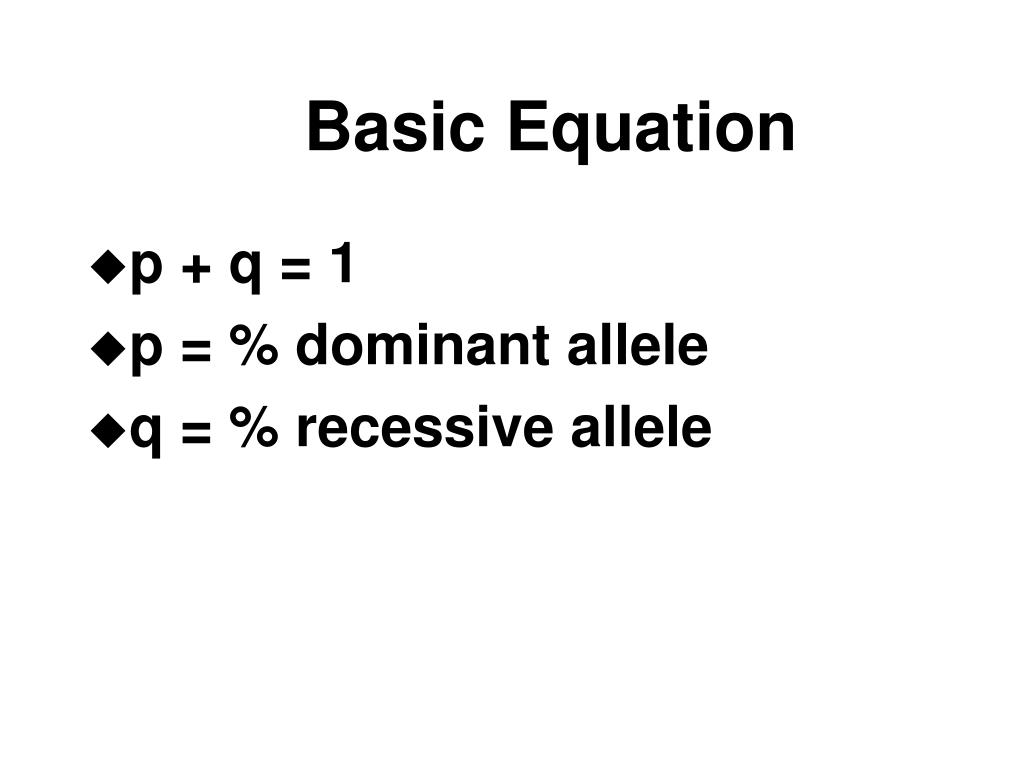 Basic Equation