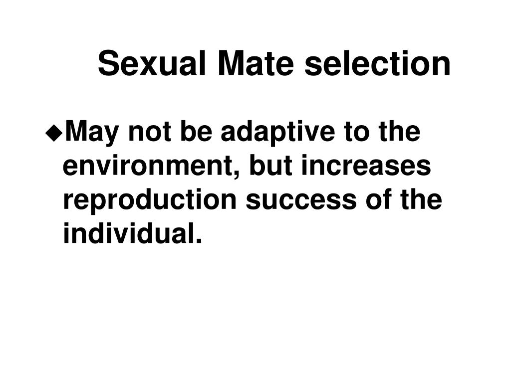 Sexual Mate selection
