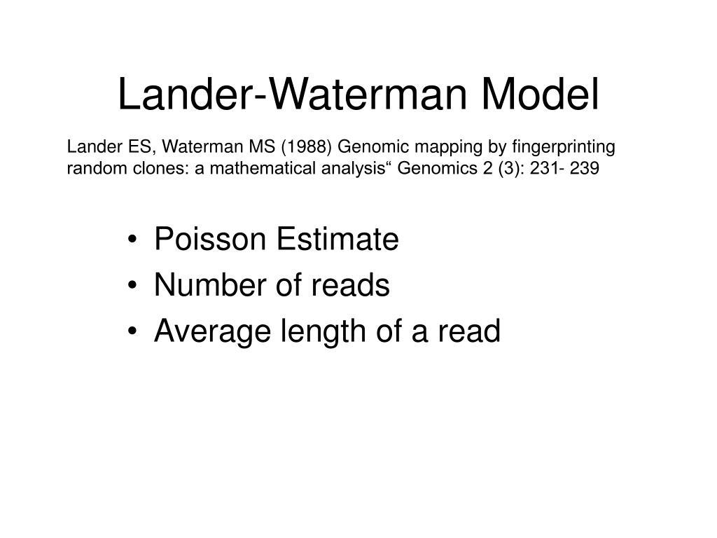 Lander-Waterman Model