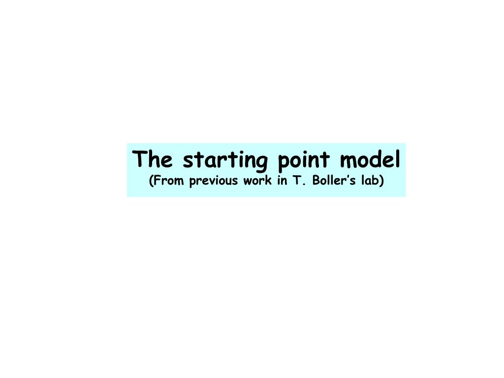 The starting point model