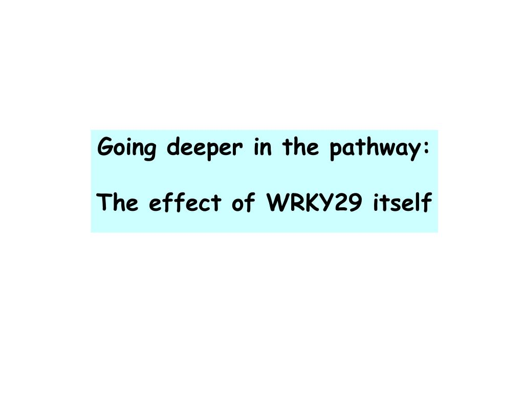 Going deeper in the pathway: