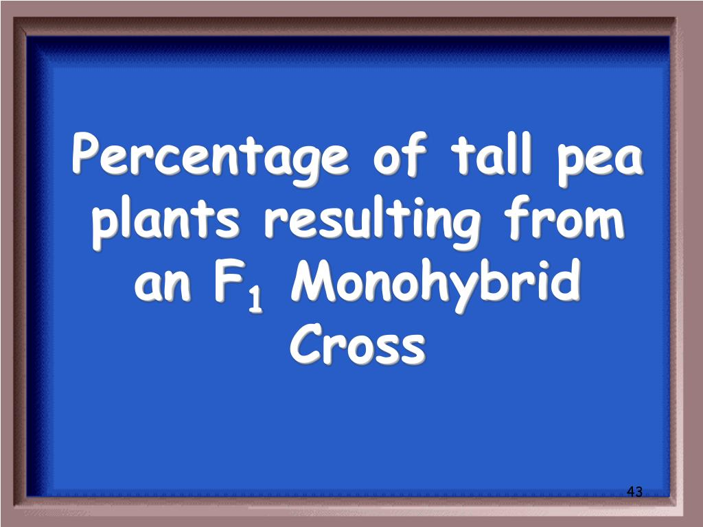 Percentage of tall pea plants resulting from an F