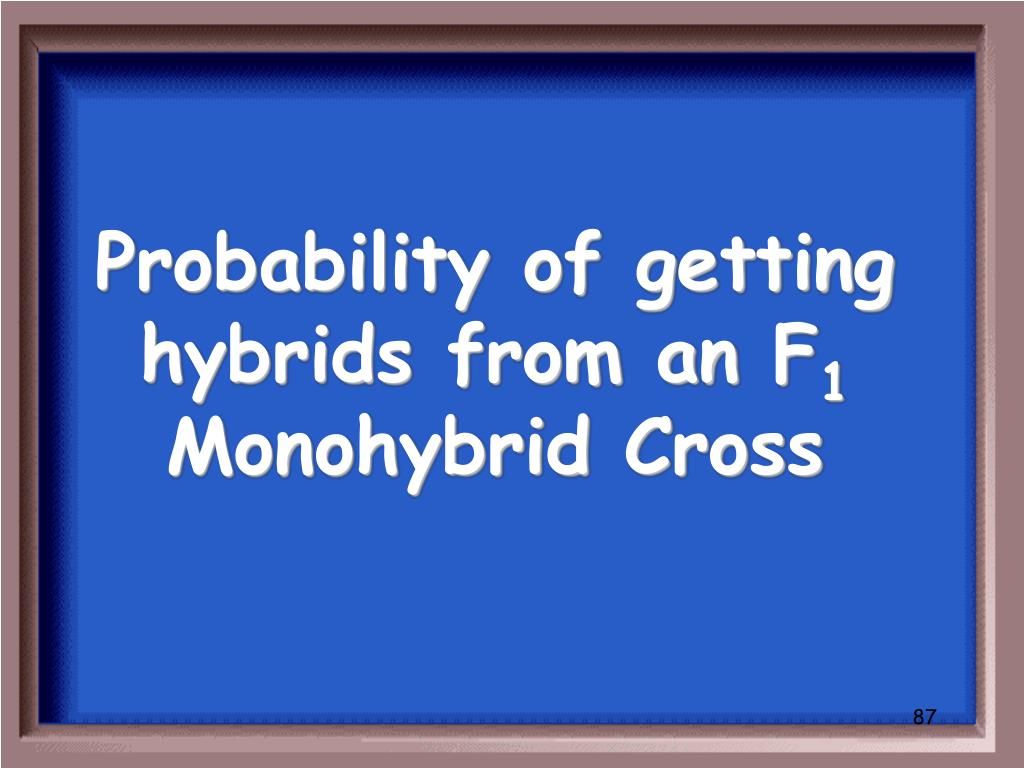 Probability of getting hybrids from an F