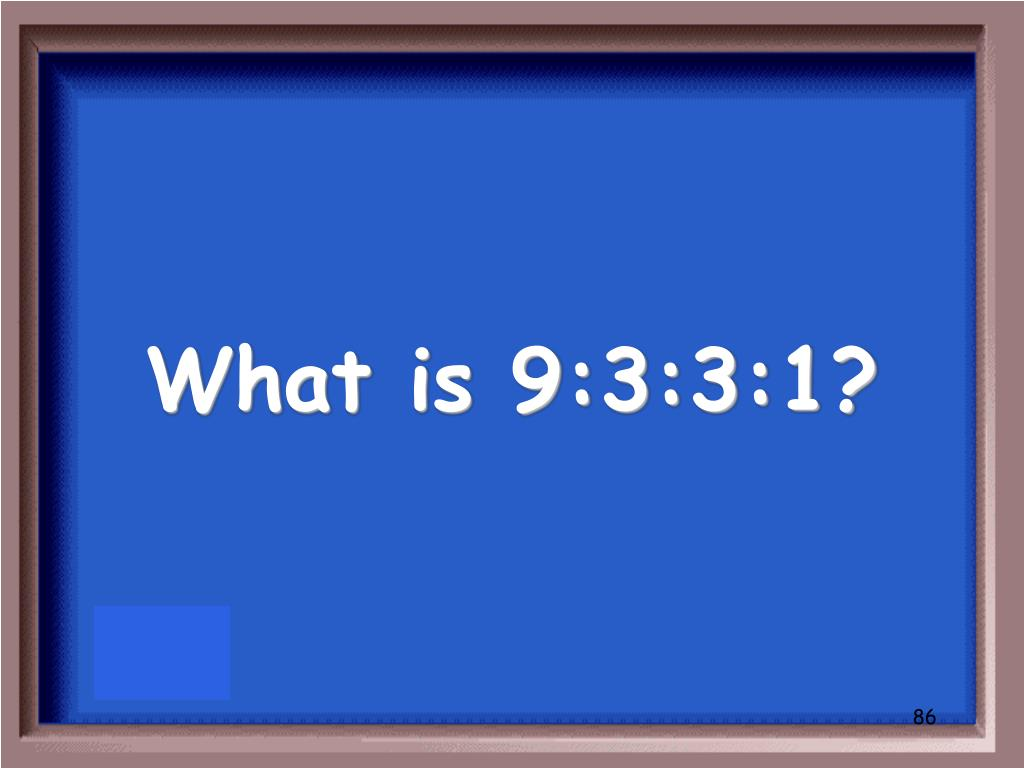 What is 9:3:3:1?