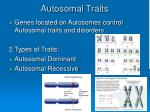 autosomal traits