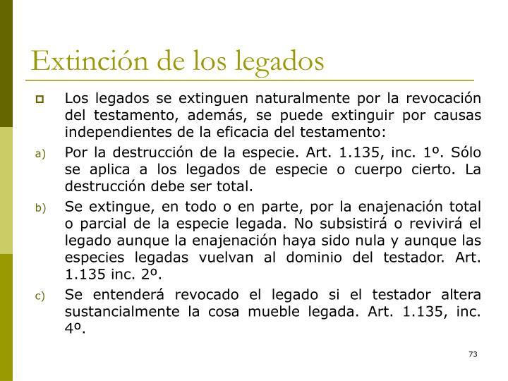 Extinción de los legados