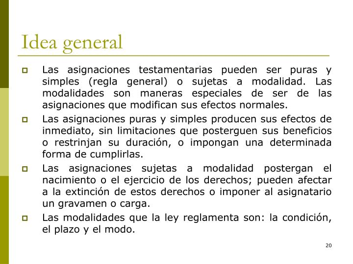 Idea general