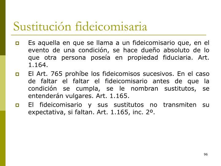 Sustitución fideicomisaria