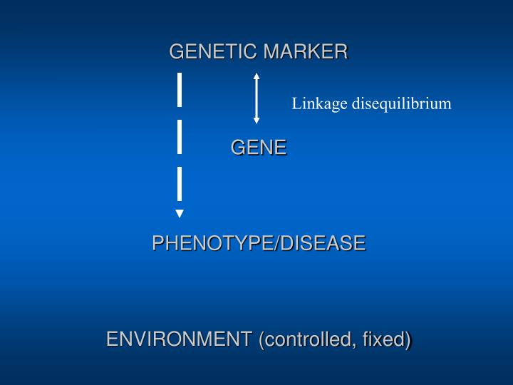 Genetic marker gene phenotype disease environment controlled fixed
