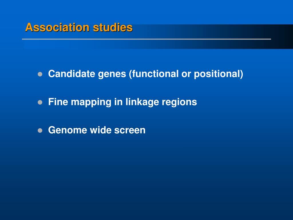 Association studies