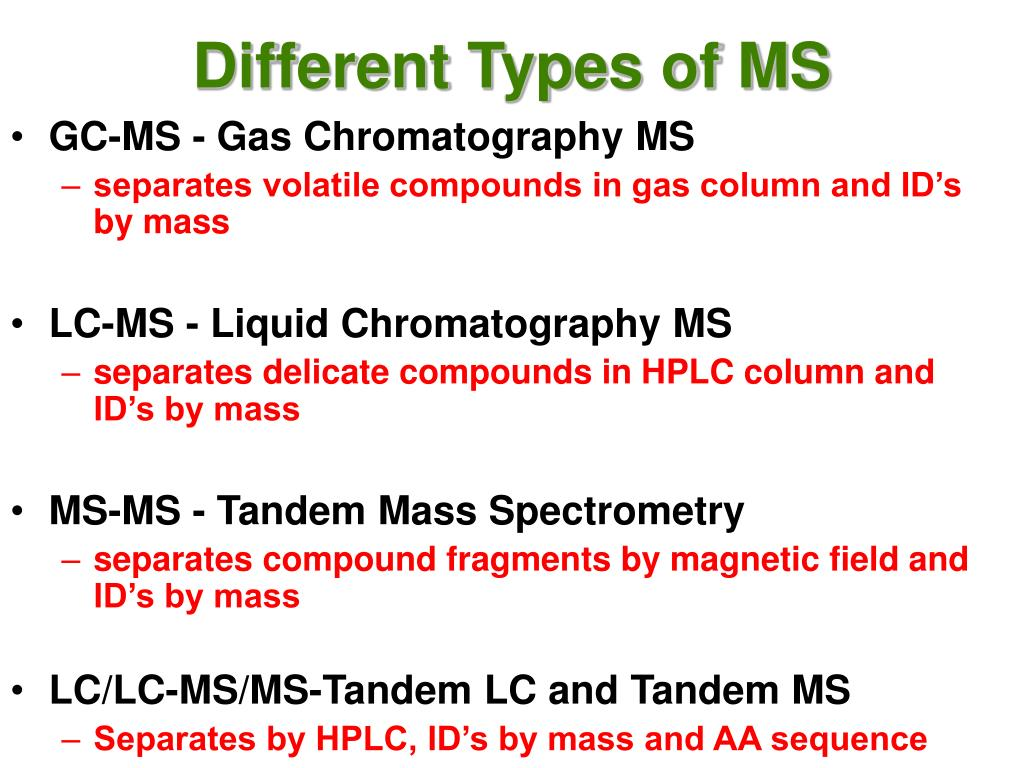 Different Types of MS