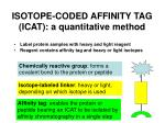 isotope coded affinity tag icat a quantitative method