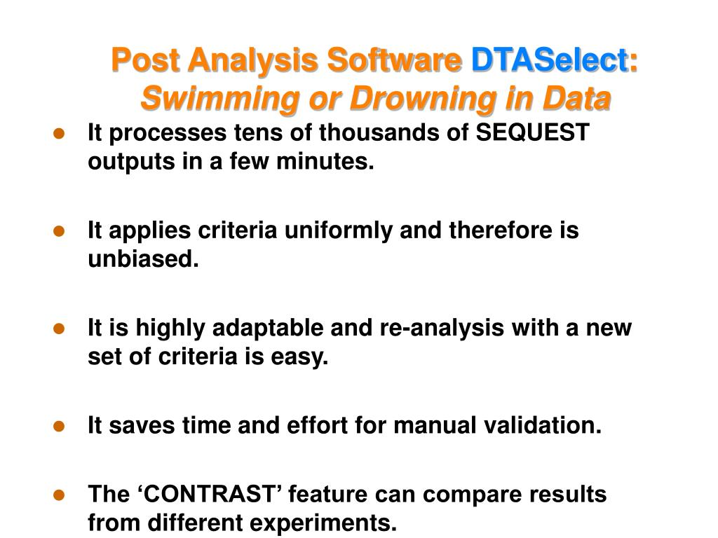 Post Analysis Software