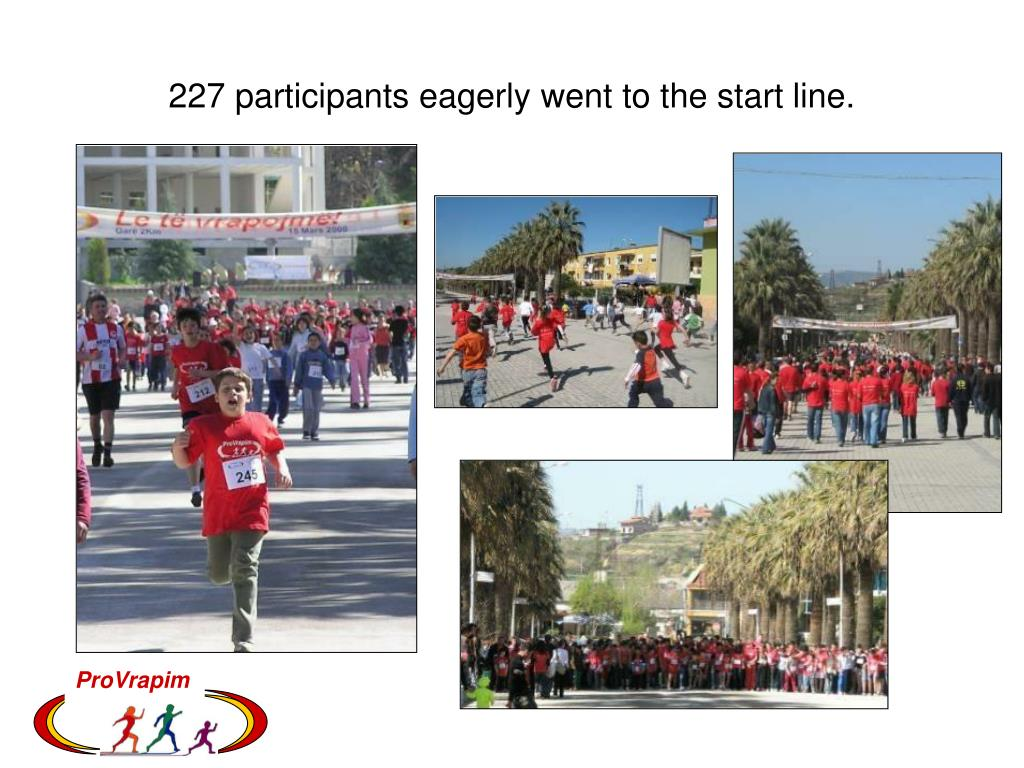 227 participants eagerly went to the start line.