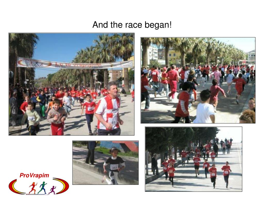 And the race began!