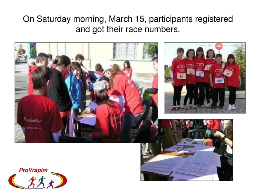 On Saturday morning, March 15, participants registered and got their race numbers.
