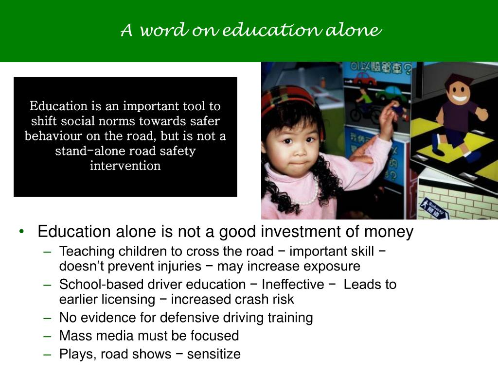A word on education alone