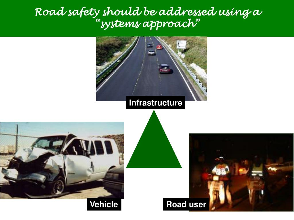 "Road safety should be addressed using a      ""systems approach"""